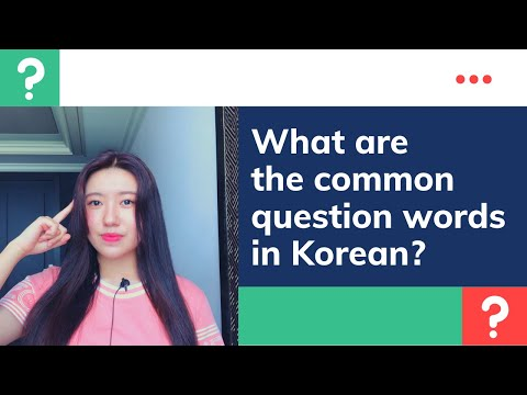What are the common question words in Korean?