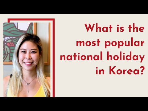 What is the most popular national holiday in Korea?