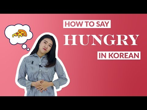 How to Say I'M HUNGRY in Korean   90 Day Korean
