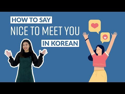 How to Say NICE TO MEET YOU in Korean | 90 Day Korean