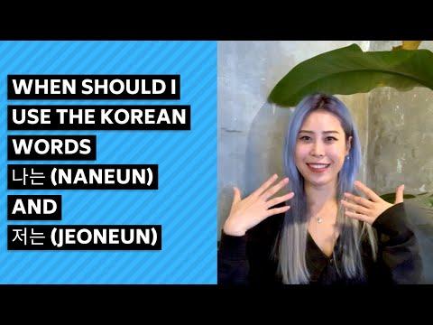 When should I use the Korean words 나는 (naneun) and 저는 (jeoneun)?