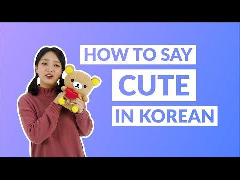 How to Say CUTE in Korean   90 Day Korean