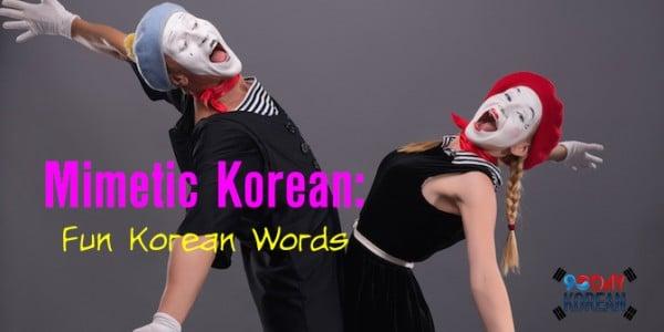 Mimetic Korean Words