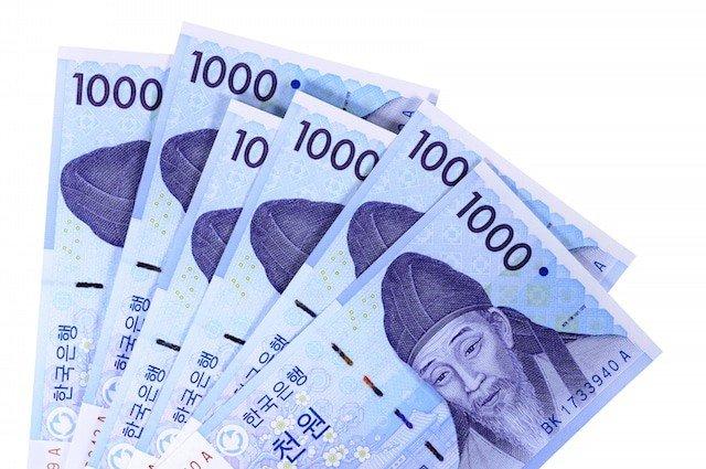 Korean Money 1000 Won Front