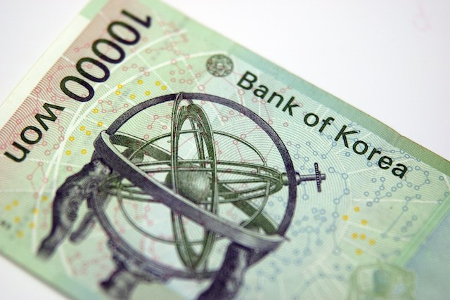 Korean Money 10000 won back