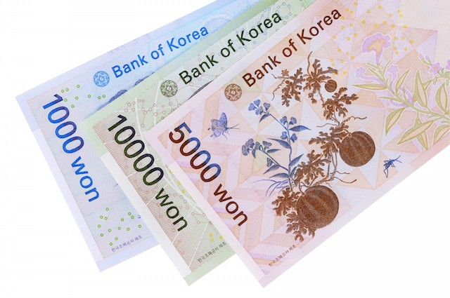 Korean Money 5000 Won Back