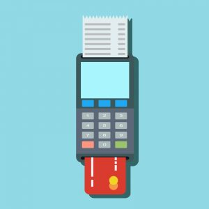 credit card terminal for purchases