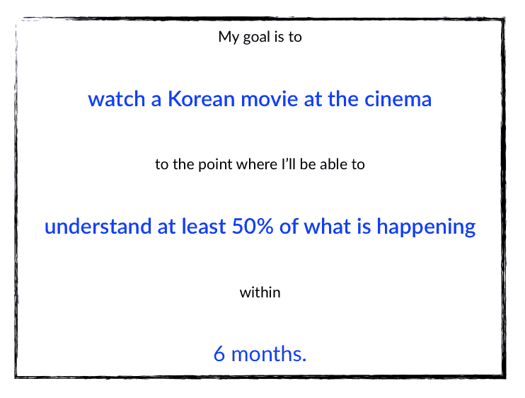Learn Korean Goal Movies