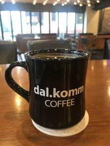 Cup of coffee in a mug at Dal.komm Coffee in Seoul