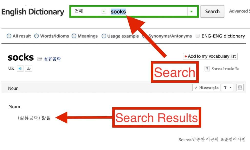 NaverDictionarySearch