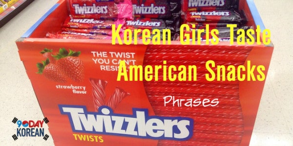 Korean Girls Taste American Snacks