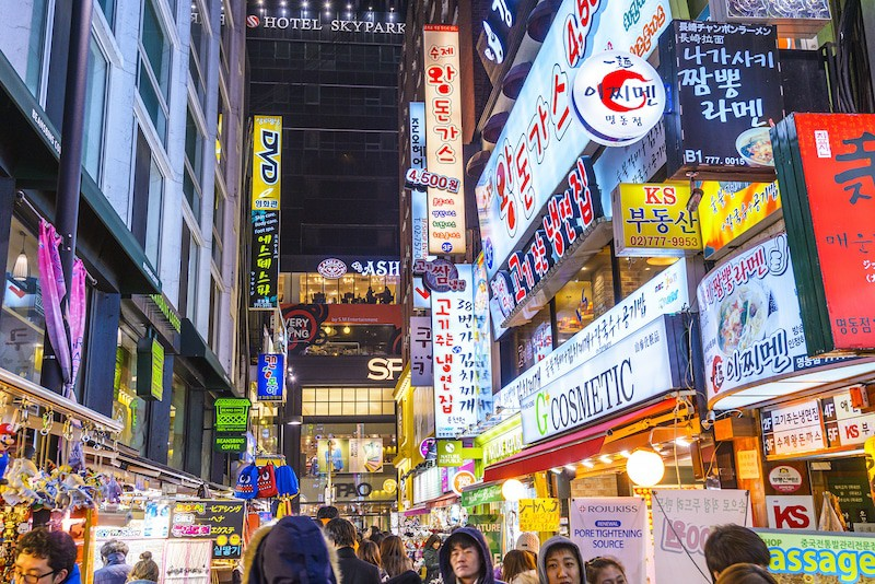 Korean shopping date in Myeongdong