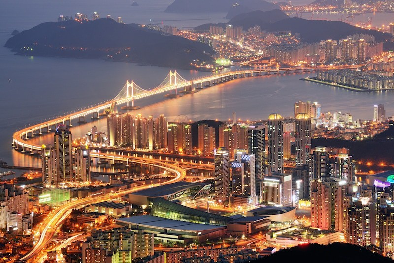 Busan South Korea Skyline