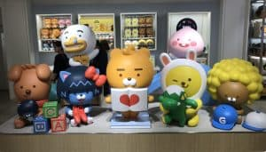 KakaoFriends at a flagship store in Gangnam, Seoul, South Korea