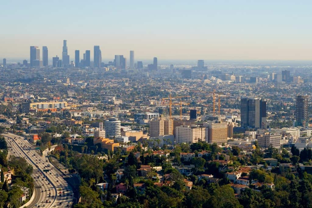 Skyview of Los Angeles, CA, USA