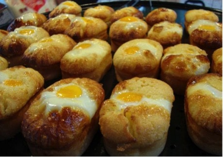 Korean street food egg bread