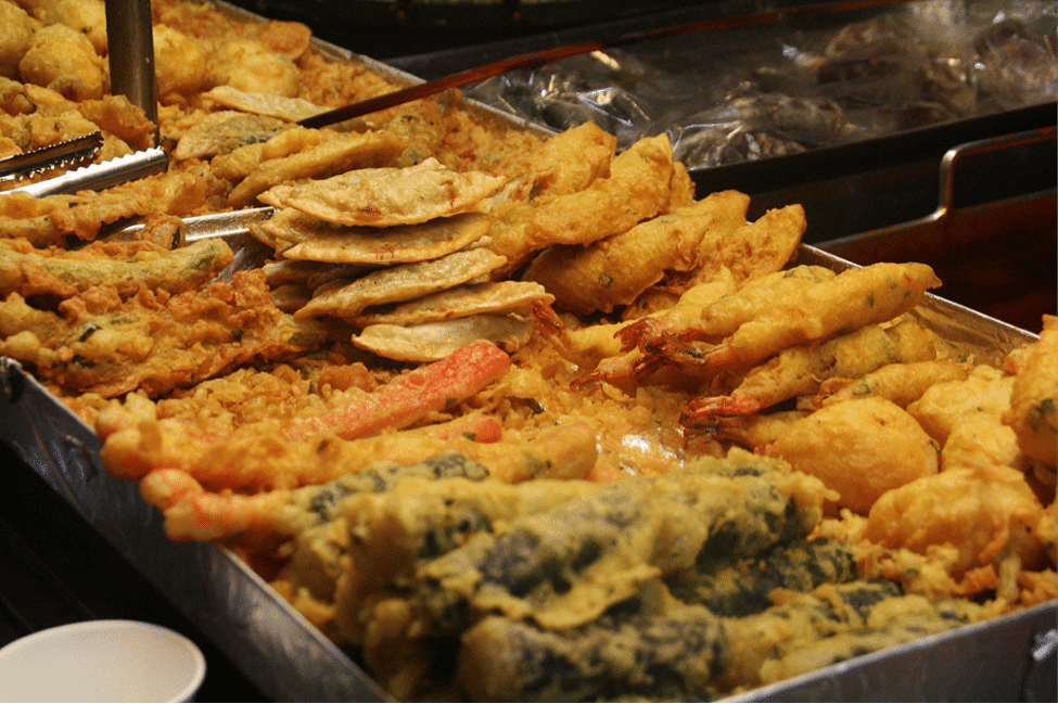 Korean street food fried snacks