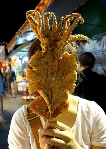 Korean Street Food 19 Deep-fried squid