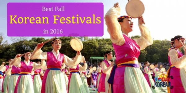 Best Korean Fall Festivals in 2016