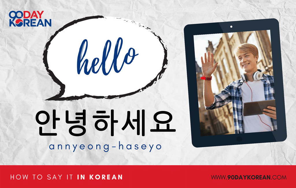 How to say it in Korean Large In-post images - standard hello
