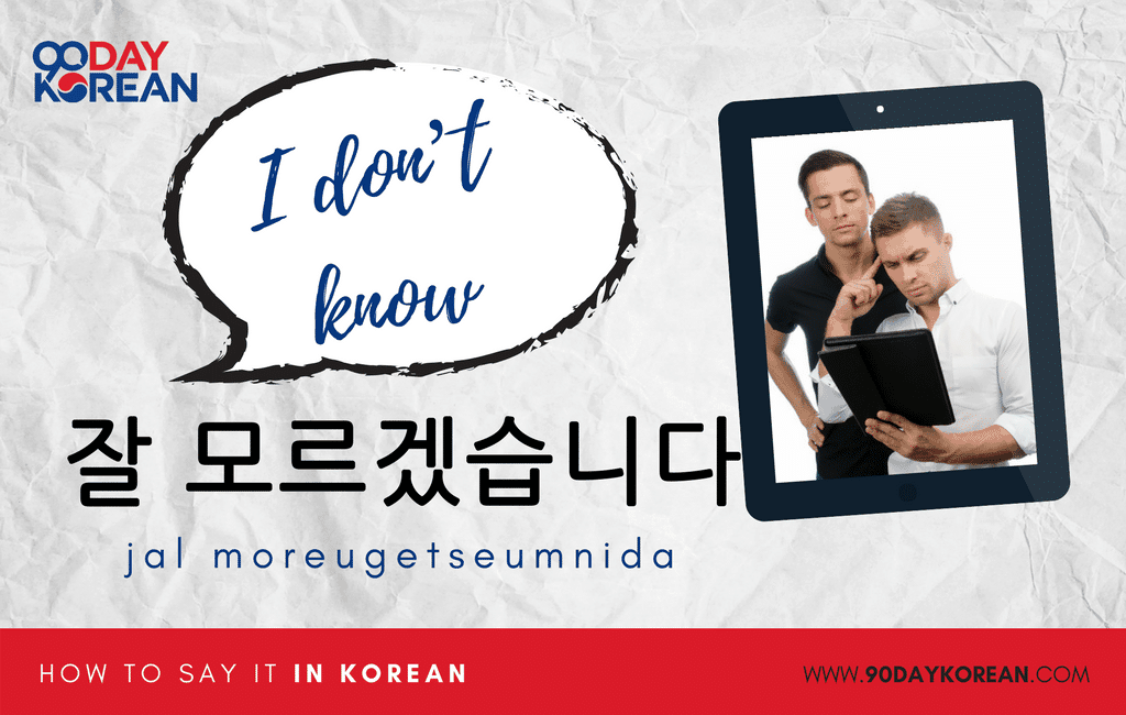 How to Say I Don't Know in Korean formal