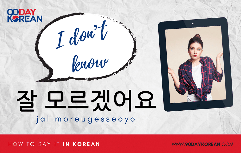 How to Say I Don't Know in Korean standard