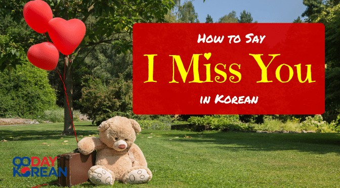 How to Say I Miss You in Korean 보고 싶어요