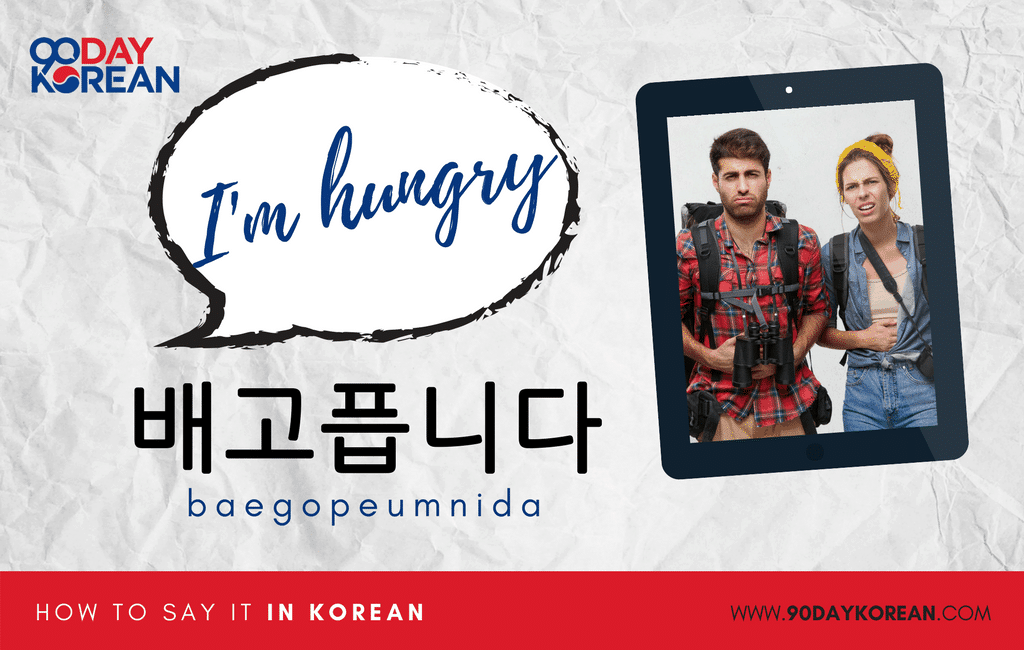How to Say I'm Hungry in Korean formal