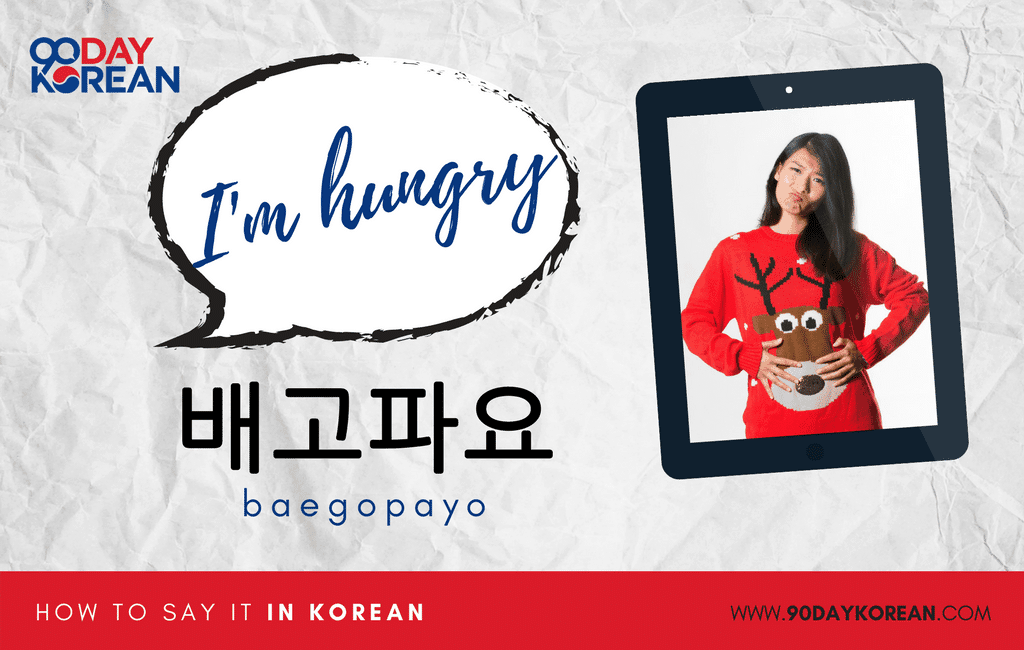How to Say I'm Hungry in Korean standard