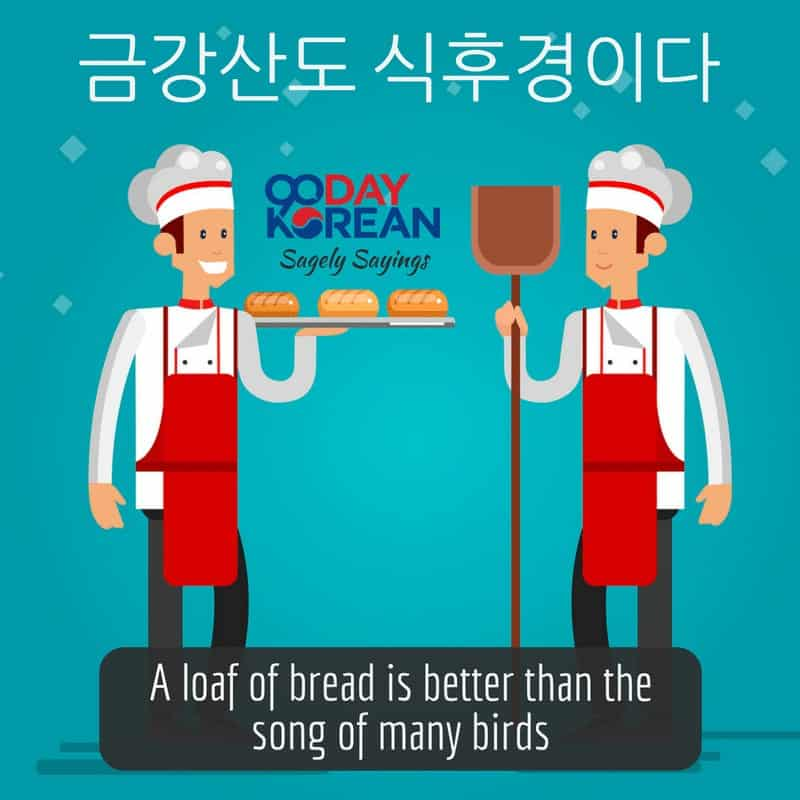 A loaf of bread is better than the song of many birds
