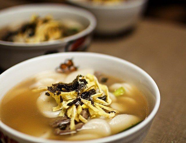 Korean Lunar New Years Food tteokguk