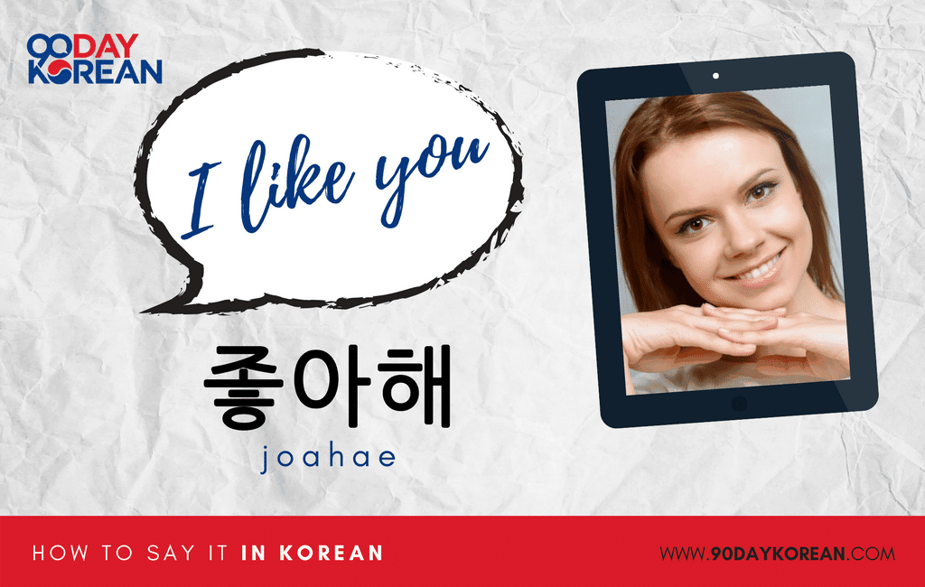 How to Say I Like You in Korean informal