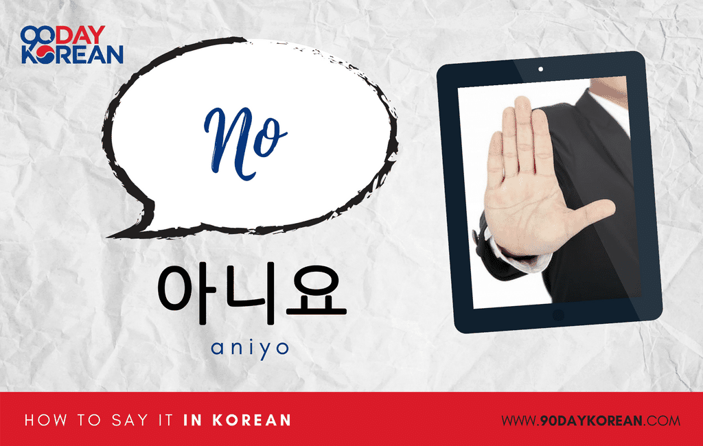 How to Say No in Korean formal