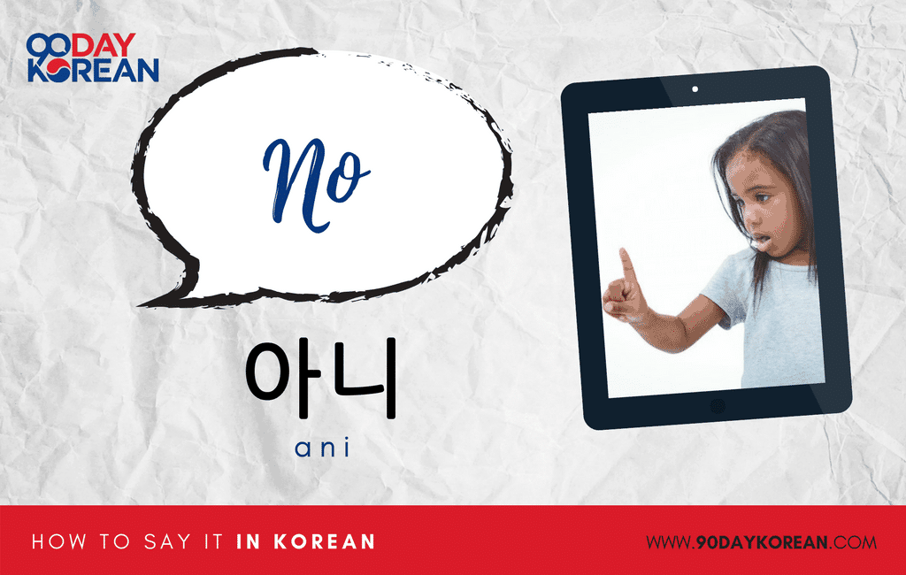 How to Say No in Korean informal