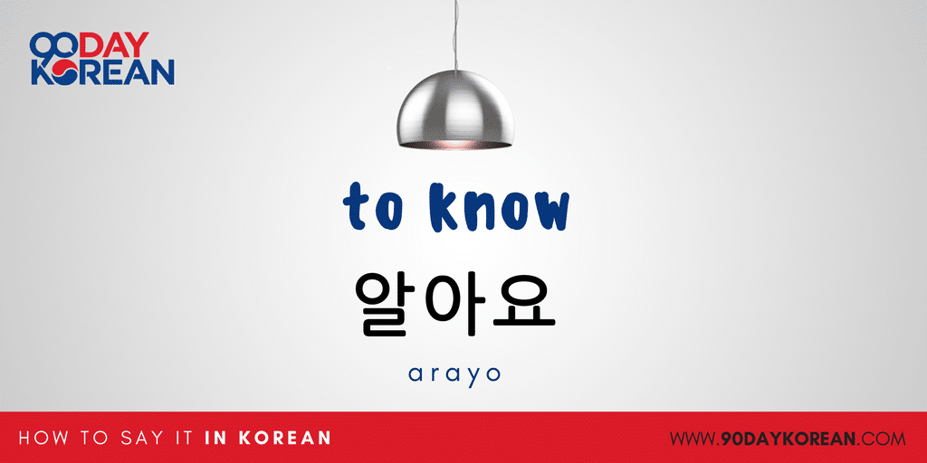 How to Say Yes in Korean - to know