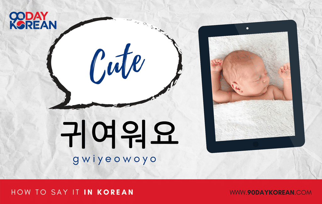 How to Say cute in Korean standard