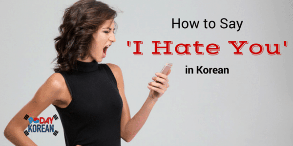 How to Say I Hate You in Korean