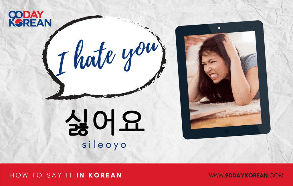 How to Say I Hate You in Korean standard
