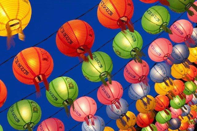 Buddhas Birthday Korea Lanterns