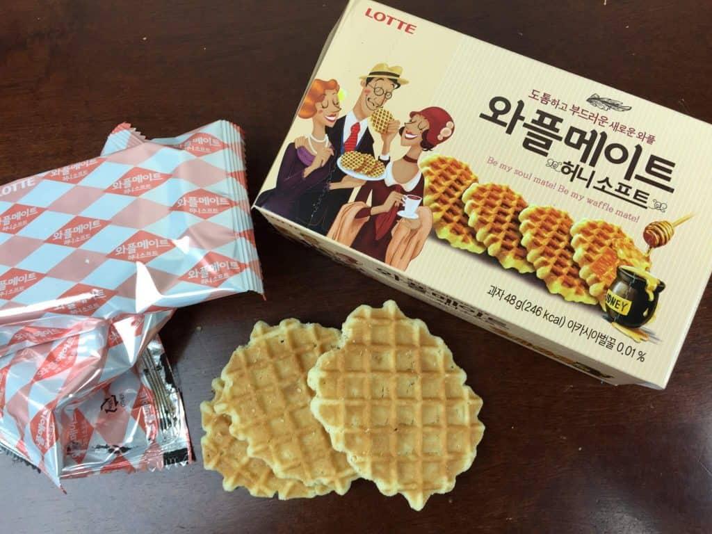 Korean waffle snacks