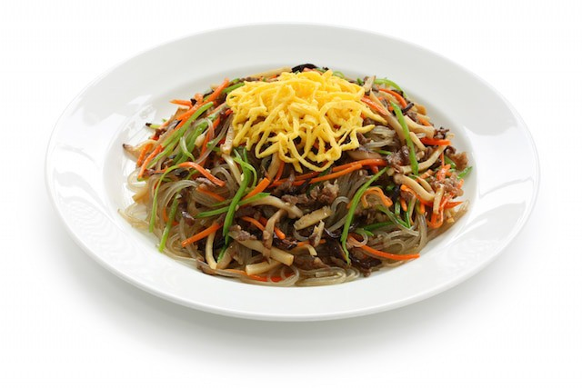 Japchae Korean food for Chuseok