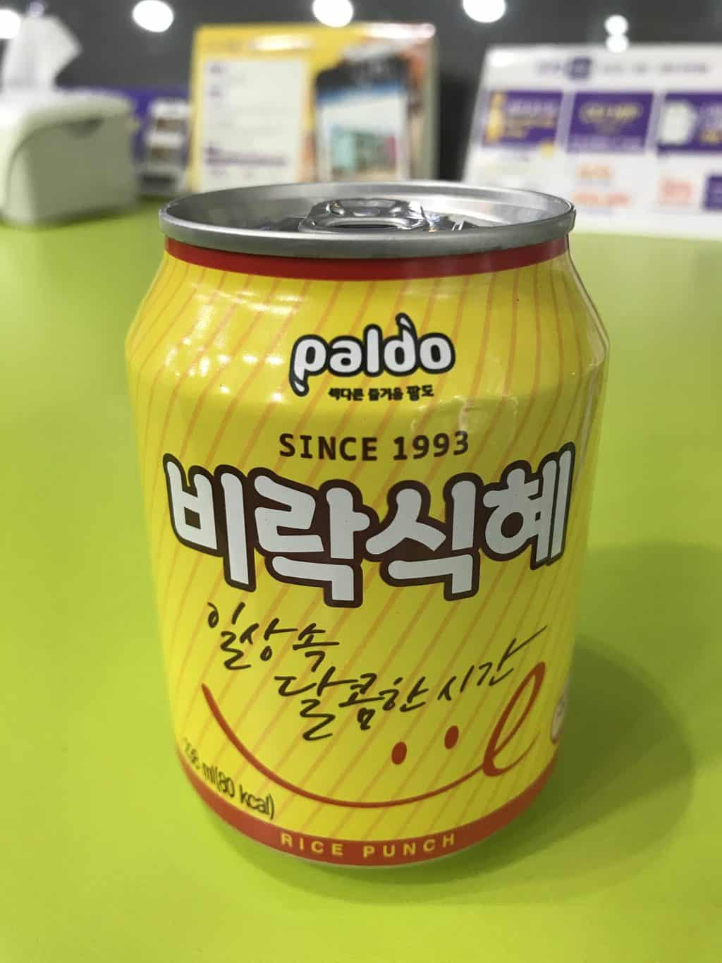 Can of Paldo Korean Sikhye
