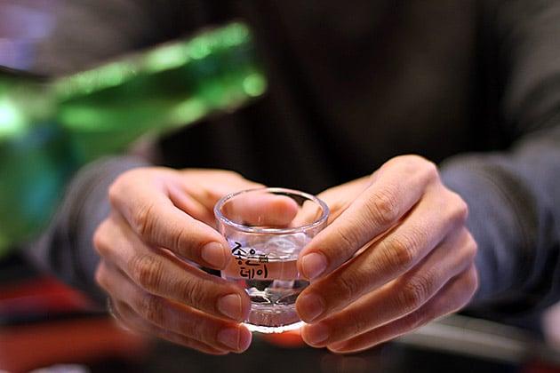 Soju shot glass