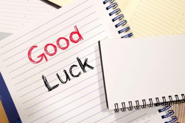 Good Luck Text