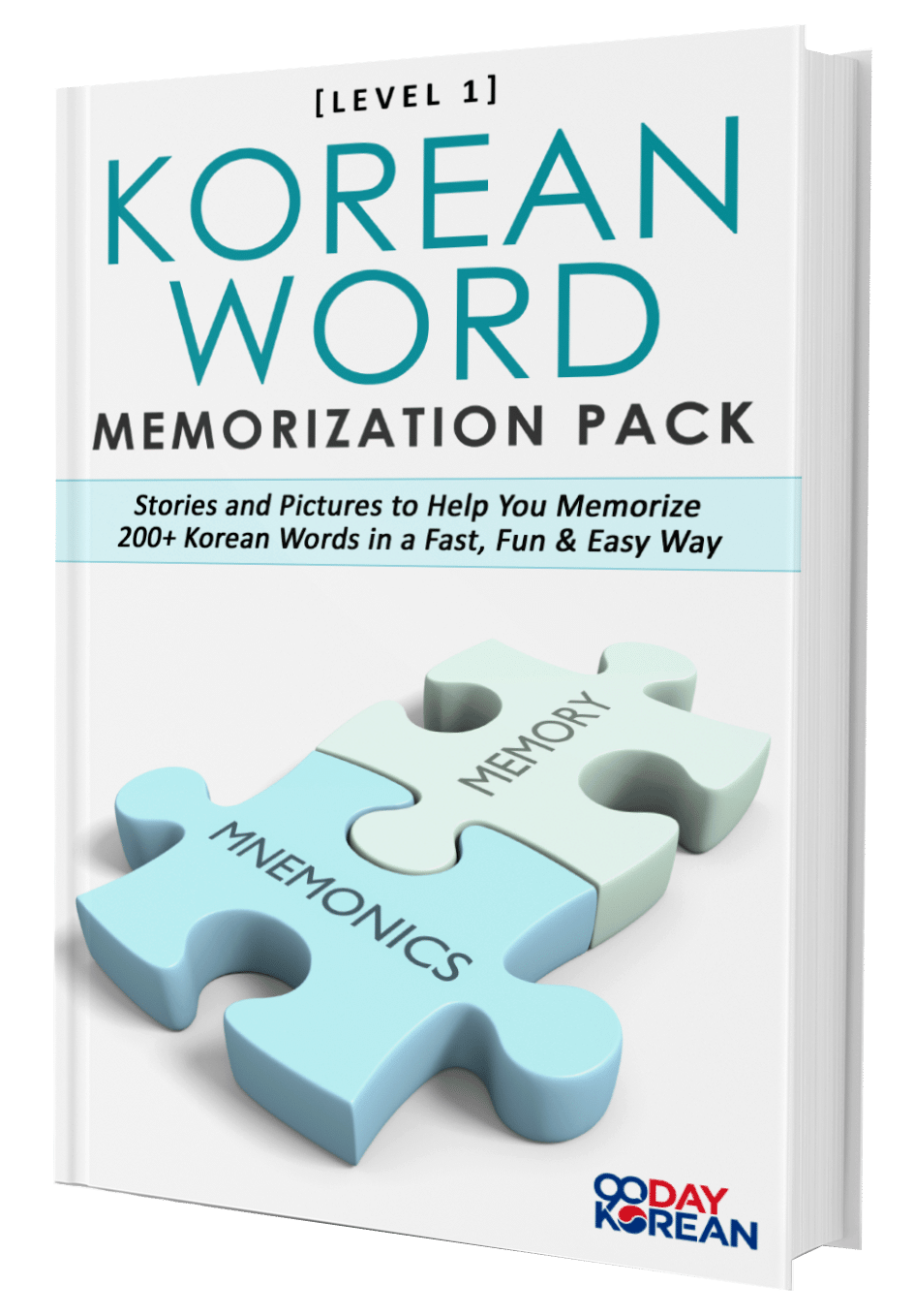 3D image of the Korean Word Memorization Pack by 90 Day Korean