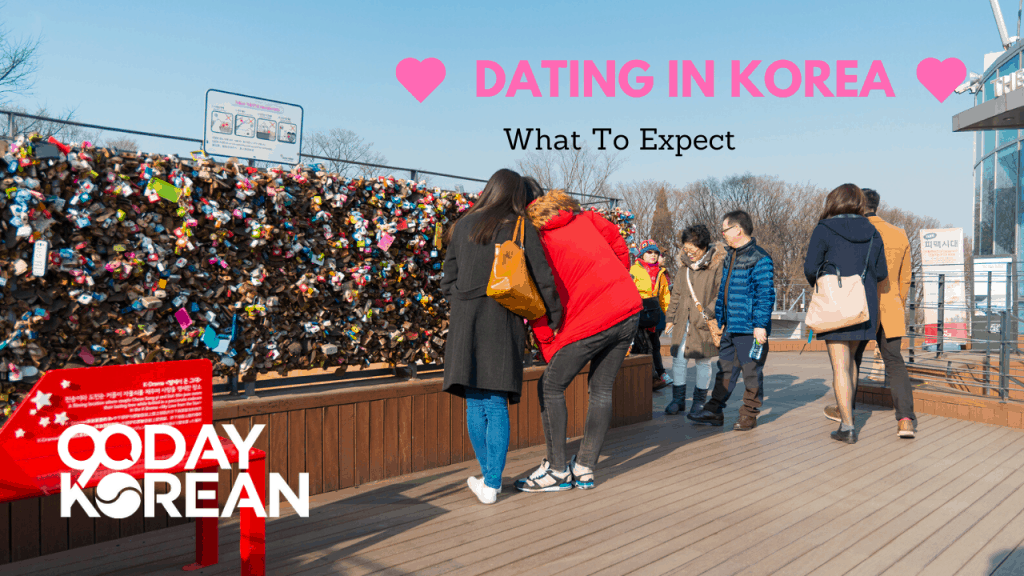 People in Seoul near Namsan Tower on a date