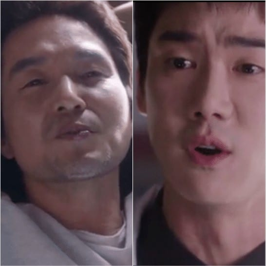 Doctor Kim and Kang Dong-Joo arguing with each other
