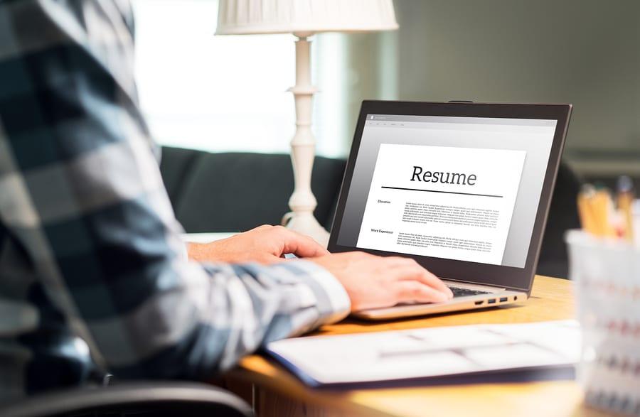 Man Writing Resume
