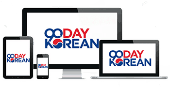 90 Day Korean logo inside of a tablet, smartphone, desktop, and notebook computer