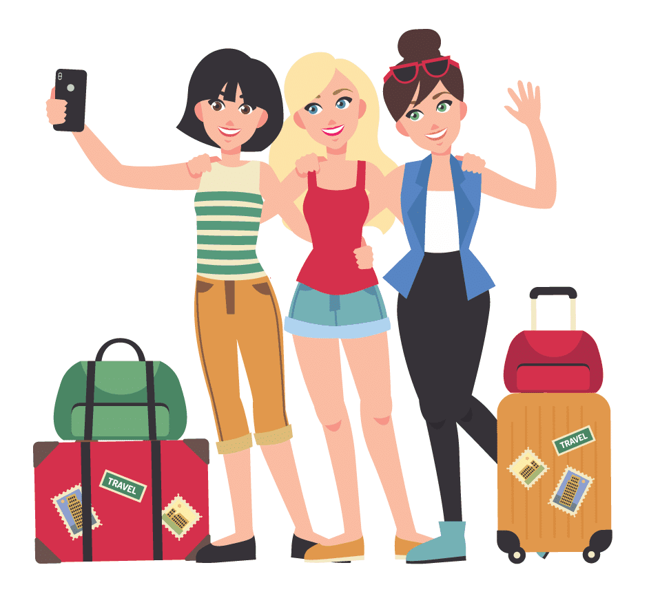 Friends travel